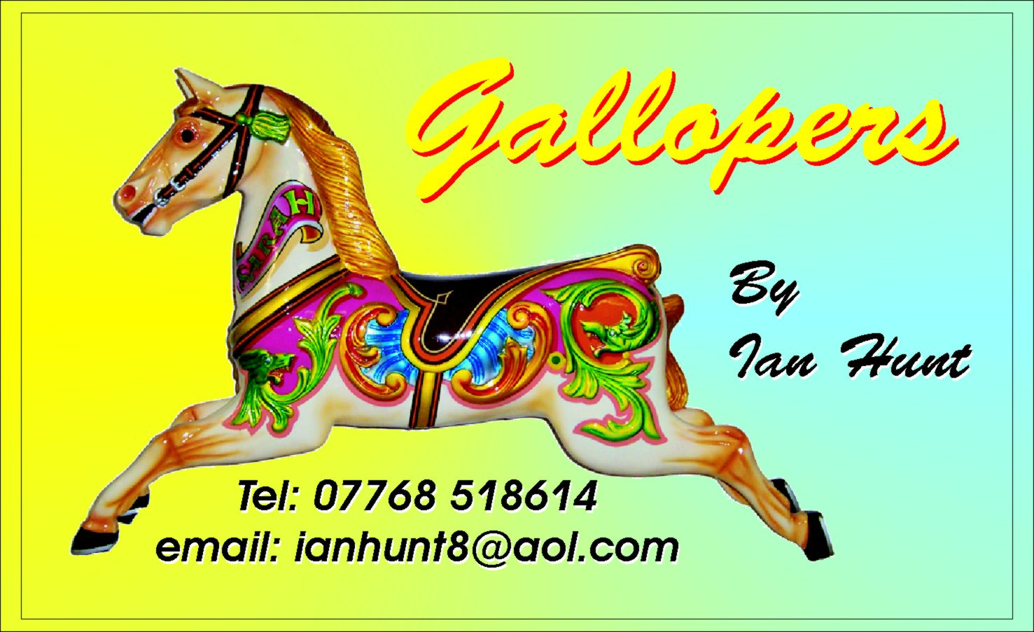 Traditional Fairground Gallopers Horses